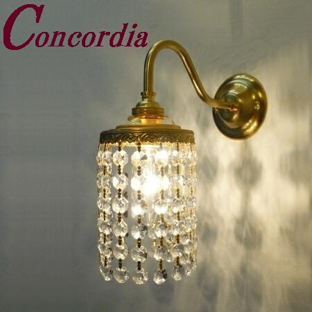 【ブラケットライト WB811+662/CLR】 真鍮製 クリスタル アンティーク調 ブラケット照明 シック クラシカル エレンガント 本物 廊下 鏡  LED電球使用可