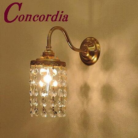 【ブラケットライト WB811+663/CLR】 真鍮 クリスタル アンティーク風 壁照明 トラディショナル クラシカル おしゃれ 本格的  洗面所 玄関  LED電球使用可