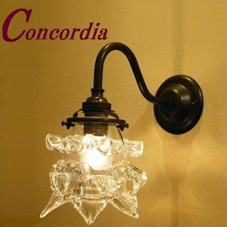 【ブラケットライト WB811/Z+235/CLR】 真鍮製 ガラス アンティーク風 ブラケット照明 クラシカル レトロ 可愛い 高級 寝室 廊下 黒色 LED電球使用可