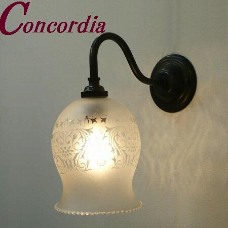 【ブラケットライト WB811/Z+410M/SAT】 真鍮 ガラス アンティーク調 壁照明 レトロ トラディショナル  本格的 玄関 寝室 黒色 LED電球使用可