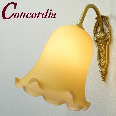 【ブラケットライト WF320+361/IVO】 真鍮製 ガラスシェード アンティーク風 ブラケット照明 シック かわいい 本物 廊下 トイレ LED電球使用可