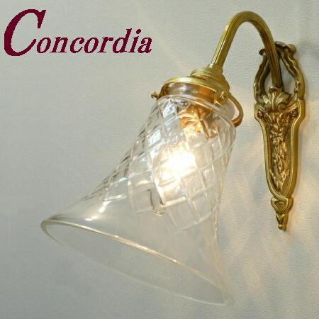 【ブラケットライト WF320+421/CUT】 真鍮 ガラスシェード アンティーク風 ブラケット照明 レトロ かわいい 本物 トイレ 寝室 LED電球使用可
