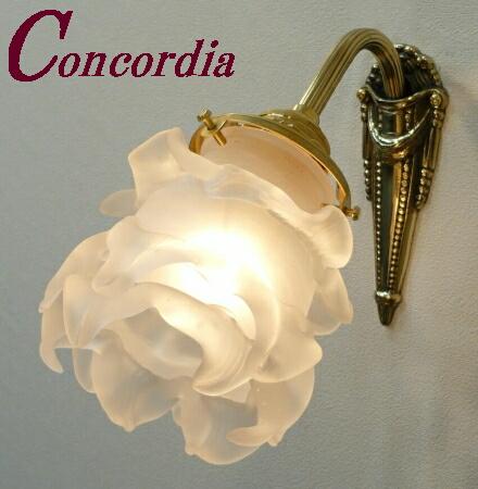 【ブラケットライト WF574+235/SAT】 真鍮製 ガラス アンティーク風 ブラケット照明 レトロ かわいい 高級 寝室 トイレ LED電球使用可