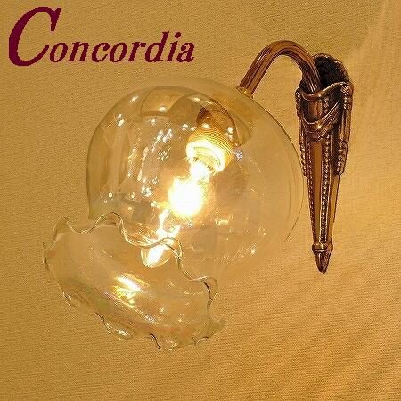 【ブラケットライト WF574+520/PRL】 真鍮 ガラスシェード アンティーク調 ブラケット照明 クラシック おしゃれ 高級 寝室 鏡 LED電球使用可