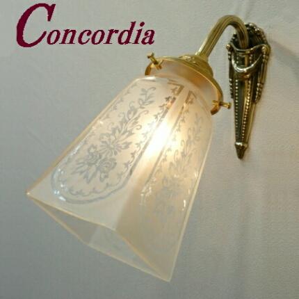 【ブラケットライト WF574+965/SAT】 真鍮 ガラス アンティーク風 ブラケット照明 クラシック かわいい 本物 階段 寝室 LED電球使用可