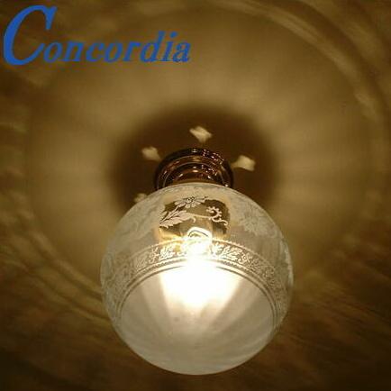【シーリングライト 108E/SAT-PB394】直接配線対応 洗面所 照明 天井灯 真鍮 ガラス