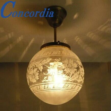 【シーリングライト 108E/SAT-PB394/H】引っ掛けシーリング対応 天井灯 照明 真鍮 ガラス