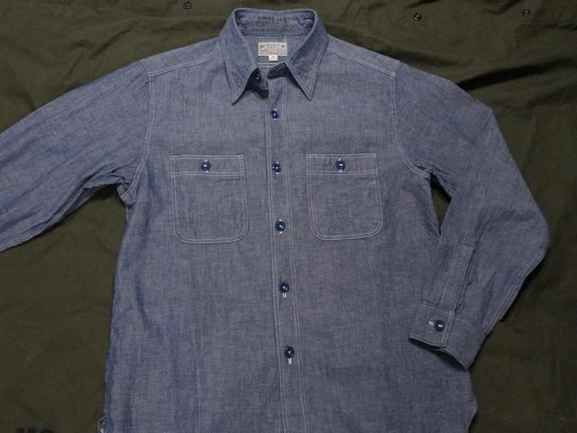 BUZZ RICKSON'S CHAMBRAY WORK SHIRT [BLUE][BR25995] / バズリクソンズ シャンブレーワークシャツ