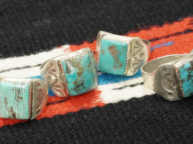 INDIAN JEWELRY NAVAJO TURQUOISE RING / インディアン ジュエリー ナバホ ターコイズリング