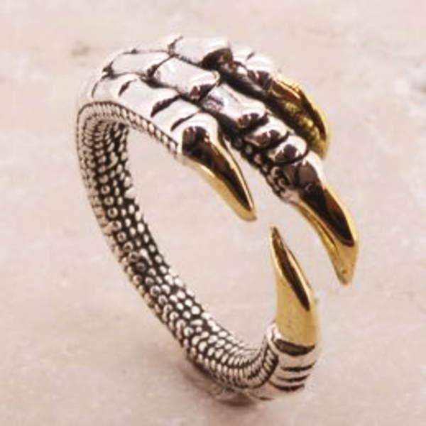 ドラゴンクロー リング 指輪 シルバーリング シルバー925 シルバー 925 サイズ 人気 ブランド シンプル メンズ 彼氏 レディース 彼女 //【市場】【送料無料】←DM便