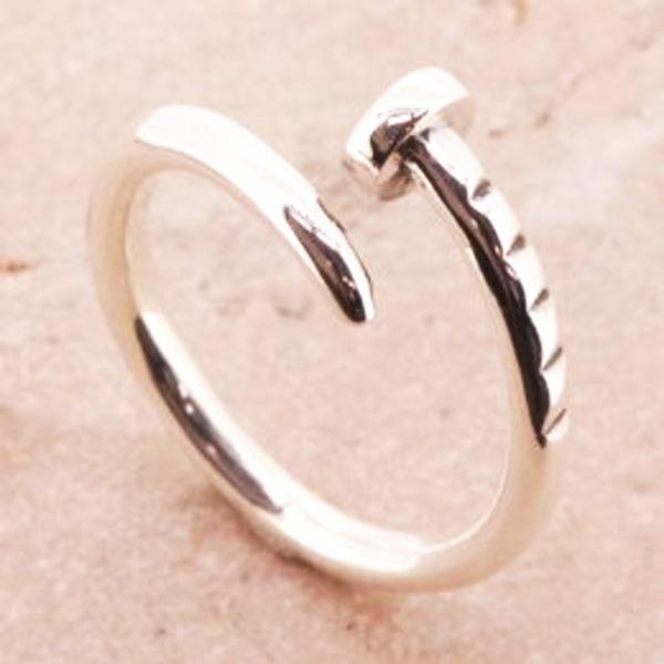 クギ 釘 リング 指輪 シルバーリング シルバー925 シルバー 925 サイズ 人気 ブランド シンプル メンズ 彼氏 レディース 彼女 //【市場】【送料無料】←DM便