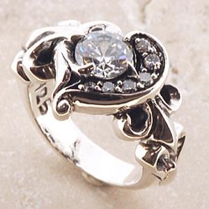 ハート ホワイト リング 指輪 シルバーリング シルバー925 シルバー 925 メンズ 彼氏 レディース 彼女 //【市場】【送料無料】←DM便