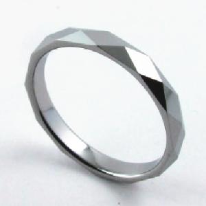 ダイヤカット シルバー リング 指輪 タングステン アレルギーフリー メンズ 彼氏 レディース 彼女 //【市場】【送料無料】←DM便