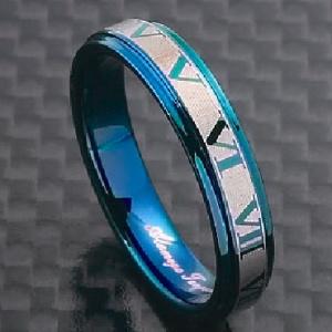 アトラスリング ブルー リング 指輪 タングステン ノンアレルギー メンズ 彼氏 レディース 彼女 //【市場】【送料無料】←DM便