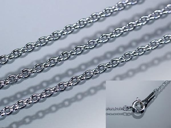 ネックレス K18WG・YG・PG 丸アズキチェーンネックレス幅1.0mm長さ40cm