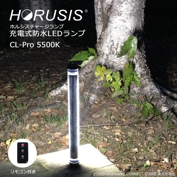 HORUSIS CL-Pro 5500K 700LM Type 充電式 防水 LED 作業灯 投光器 ホルシス チャージランプ CHARGE LAMP 白色光 明るさ最大700LM 明るさ3段階 防塵防水性能IP68 リモコン付き ライト ワークライト LEDライト 照明 撮影用ライト 完全防水 コードレス