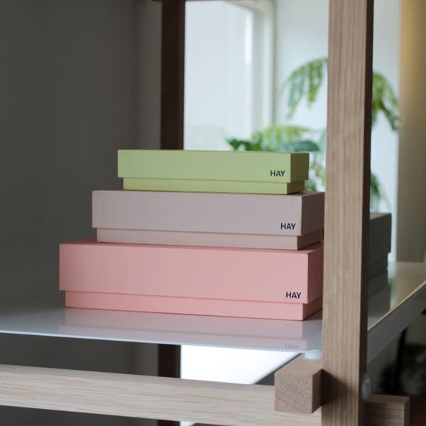 HAY(hei)/Box Box Desktop Female 7个安排收藏箱北欧丹麦名牌
