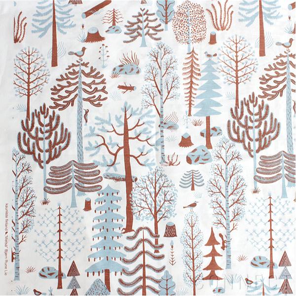 Kauniste (カウニステ)/Metsa (メッツァ) 블루 북유럽 패브릭 (직물) 패널 쿠션 등에 추천 북유럽 패브릭 (천) (1m 가기)
