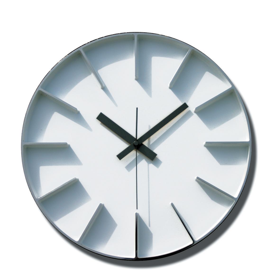 【取寄品】LEMNOS(レムノス) Edge clock L ホワイト 掛け時計