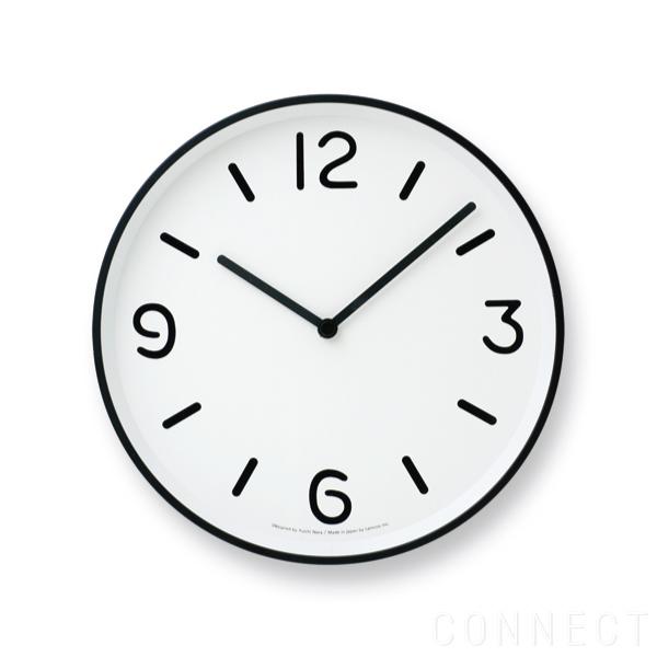 文字指標 掛け時計 Clock(モノクロック) 【取寄品】LEMNOS(レムノス)/MONO ホワイト