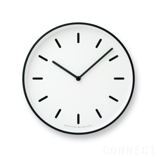 【取寄品】LEMNOS(レムノス)/MONO Clock(モノクロック) 掛け時計 棒指標 ホワイト