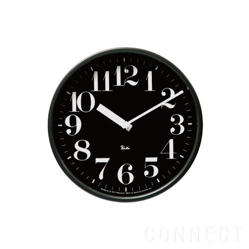 【取寄品】LEMNOS(レムノス)/Riki Steel Clock(リキスティールクロック) 電波時計 / 掛け時計 太字 ブラック