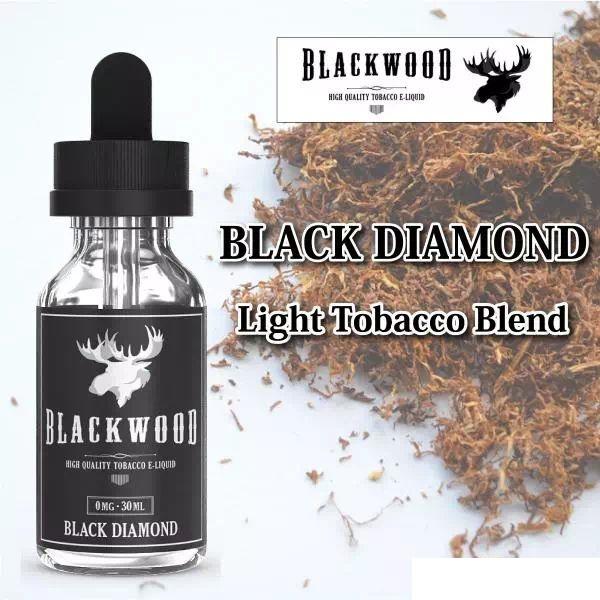 落ち着いた仕上がりのタバコフレーバー 電子タバコ vape ベイプ リキッド BLACKWOOD 店舗 ブラックダイヤモンド BLACK フレーバー タバコ味 全商品オープニング価格 30ml DIAMOND ニコチン なし タール
