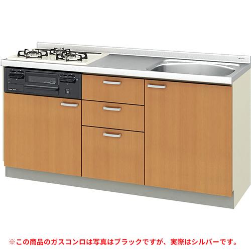 メーカー直送 リクシル 取り替えキッチン パッとりくん GKシリーズ フロアユニット [GK*-U-165XNBD**] 間口165cm ラウンド56シンク 受注生産品