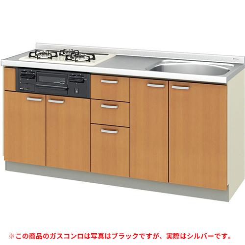 メーカー直送 リクシル 取り替えキッチン パッとりくん GKシリーズ フロアユニット [GK*-U-170XNBD**] 間口170cm ラウンド56シンク 受注生産品