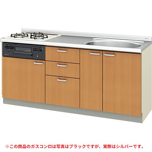 メーカー直送 リクシル 取り替えキッチン パッとりくん GKシリーズ フロアユニット [GK*-U-180SNBD**] 間口180cm ラウンド68シンク