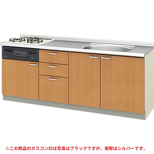 メーカー直送 リクシル 取り替えキッチン パッとりくん GKシリーズ フロアユニット [GK*-U-210SNBD**] 間口210cm ラウンド68シンク