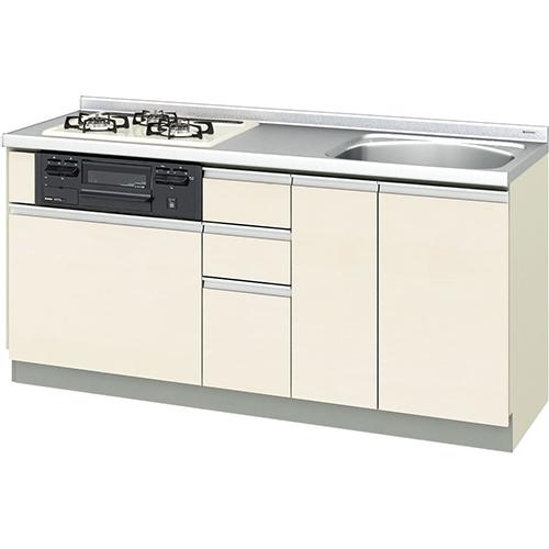 メーカー直送 リクシル 取り替えキッチン パッとりくん GXシリーズ フロアユニット [GX*-U-170XNAC**] 間口170cm ラウンド56シンク 受注生産品
