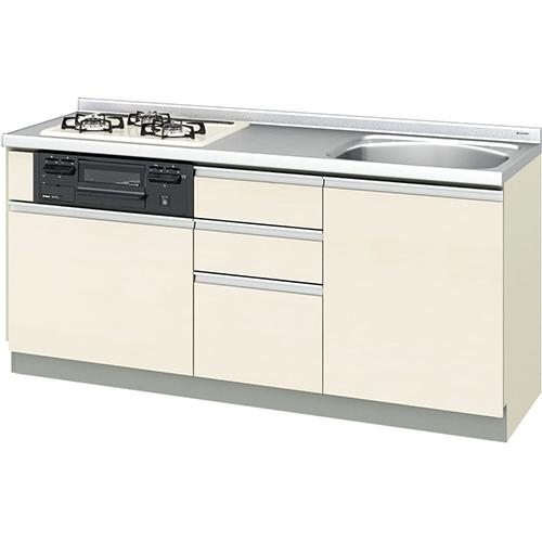 メーカー直送 リクシル 取り替えキッチン パッとりくん GXシリーズ フロアユニット [GX*-U-175XNAD**] 間口175cm ラウンド56シンク 受注生産品