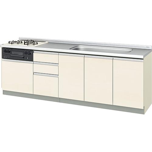 メーカー直送 リクシル 取り替えキッチン パッとりくん GXシリーズ フロアユニット [GX*-U-240SNAD**] 間口240cm ラウンド68シンク 受注生産品