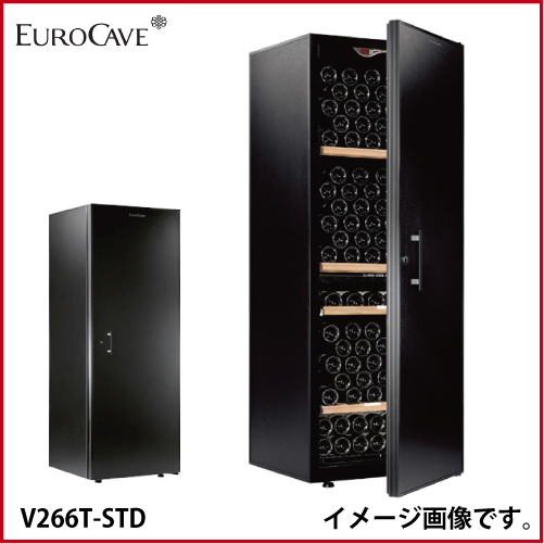 メーカー直送 送料無料 ユーロカーブ [V266T-STD] ワインセラー 本体カラー:黒色 扉:標準ドア 収容本数:202本 容量:447 L