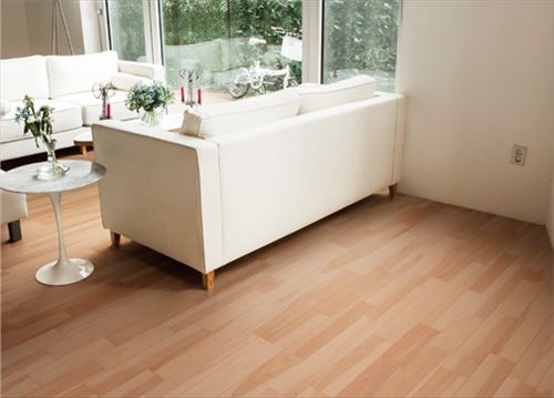 【法人様限定】 メーカー直送 イクタ 床材 パワフルフロアーREO カバ4P 床暖房対応品 捨貼り工法専用