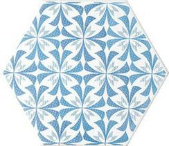 メーカー直送 タイムアンドガーデン6角形デザインタイル(磁器質タイル) スカンジナビアンスノーフレイク 606 [ScandinavianSnowflake-606-38] 38枚(m2)