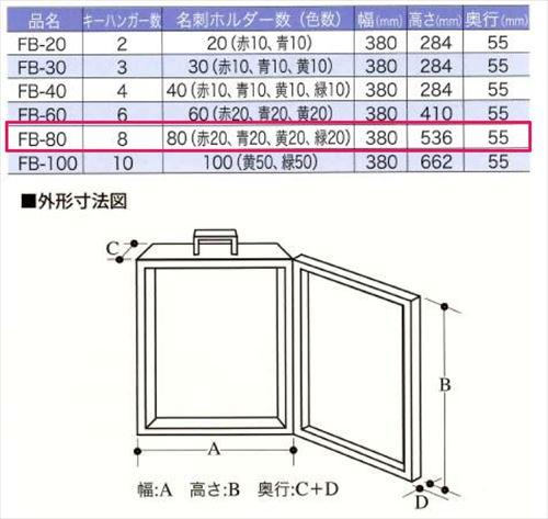 TANNER  キーボックス [TANNER854-795] ディスクシリンダー式キーボックス本数:80本用1台入