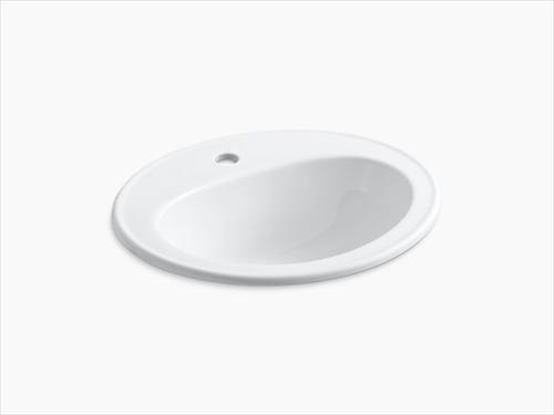 メーカー直送 KOHLER(コーラー) 洗面用シンク Pennington(ペニントン) ドロップイン 1H洗面シンク [K-2196X-1-0]