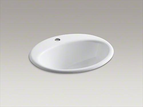 メーカー直送 KOHLER(コーラー) 洗面用シンク Farmington(ファーミントン) ドロップイン 1H 洗面シンク [K-2905-1-0]