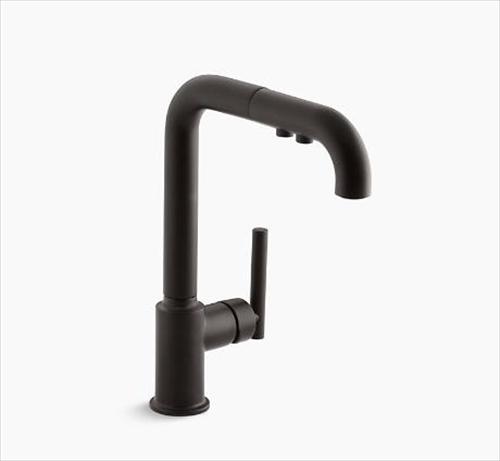 メーカー直送 KOHLER(コーラー) キッチン用混合水栓 Purist(ピュリスト) シングルレバー キッチン水栓 [K-7505-BL]