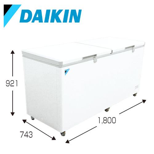 メーカー直送 ダイキン 冷凍庫 冷凍ストッカー [LBSG6AS] 600Lクラス 大容量 温度調整ダイヤル キャスター付 安心鍵付き