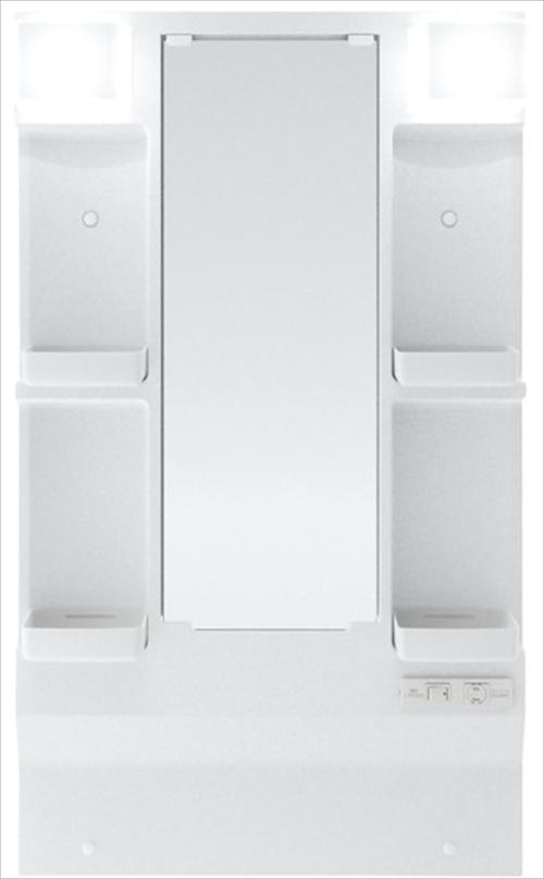 メーカー直送 ハウステック 洗面化粧台 QVシリーズ [QVM-L600HM-H] 一面鏡・LED照明 幅600mm ヒーター付 ミラーのみ
