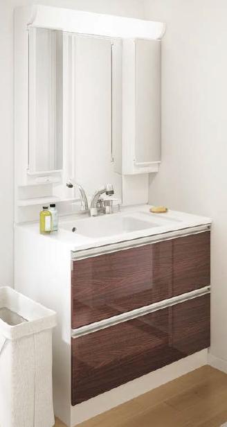 メーカー直送 アサヒ衛陶 洗面化粧台 [LKA001*] レスタ 間口900mm 樹脂製一体型カウンタータイプ