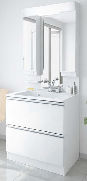 メーカー直送 アサヒ衛陶 洗面化粧台 [LLA001*] レスタ 間口750mm 樹脂製一体型カウンタータイプ