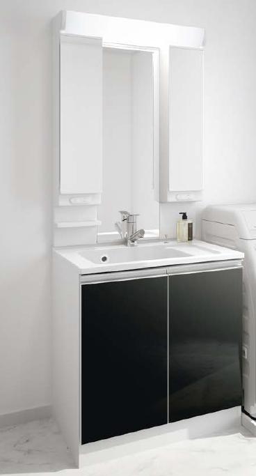 メーカー直送 アサヒ衛陶 洗面化粧台 [LLA301*] レスタ 間口750mm 樹脂製一体型カウンタータイプ