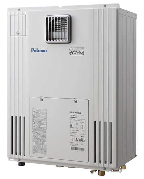 送料無料 パロマ [DH-GE2415APZL(13A)] 給湯暖房機 13A 都市ガス エコジョーズ給湯暖房機24号オートタイプ 2温度タイプ 暖房出力17.4kw 熱動弁へッダー外付 Paloma