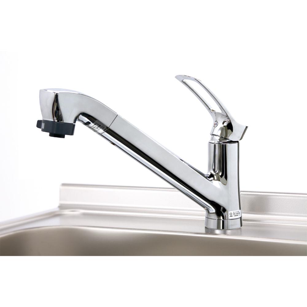 【マイセット】キッチン水栓金具シングルレバー水栓上面施工タイプ?寒冷地推奨M4M5M6S2S3推奨[SCJ-60WEK]
