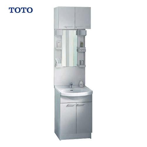 メーカー直送 TOTO 洗面化粧台 Aシリーズ 間口600mm [ミラー:LMA600DC 下台:LDA606BYRK] 一面鏡 LEDランプ エコミラー