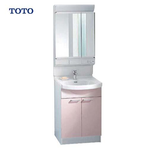 メーカー直送 TOTO 洗面化粧台 Aシリーズ 間口600mm [ミラー:LMA601EC 下台:LDA606BE(U)RP] 二面鏡 ベーシックLED照明